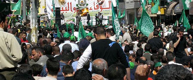 הפגנת תמיכה בחמאס, רמאללה 2007 hamas-ramalla