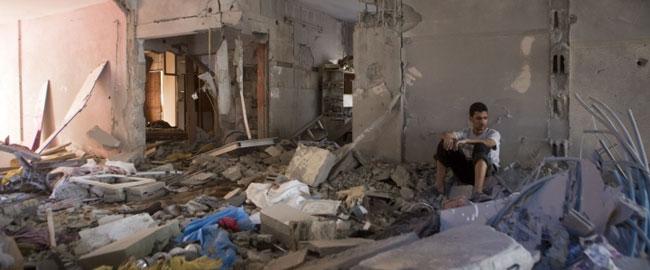 בית פלסטיני חרב, עזה 16/7/14 (צילום: אקטיבסטילס) צוק איתן gazahouse