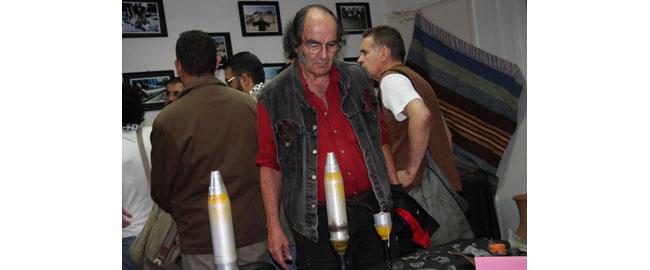 ביקור במוזיאון הטילים בעזה שם מוצגים שאריות הטילים שהטיל חל האוויר – אוקטובר 2008 גדעון ספירו עזה spirorocket