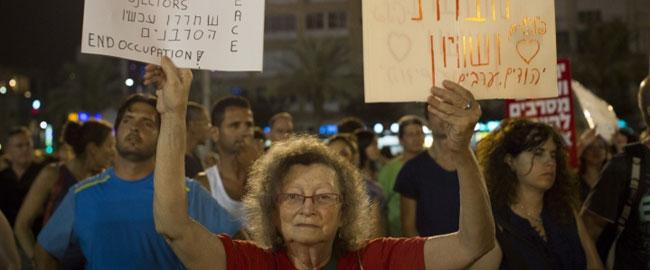 בהפגנה נגד המלחמה בעזה, תל אביב 16/8/14 (צילום: אקטיבסטילס) antigazawar