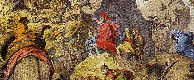 """חניבעל (המצביא שהרעיל את עצמו כדי לא להתפס ע""""י הרומאים) חוצה את האלפים hannibal"""