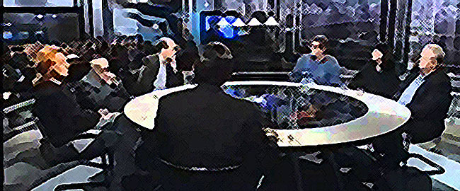 תכנית אירוח דיון שולחן עגול תקשורת שיחה טלויזיה roundtable