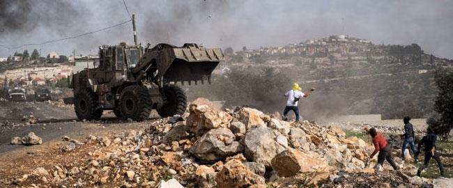 מחאה נגד הכיבוש ליד כפר קדום, 14/11/2014 (צילום: אקטיבסטיליס) פלסטינים kfarkadum