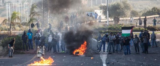 עימותים בכפר כנא בעקבות רצח חיר א-דין אל-חמדאן (צילום: אקטיבסטילס) kfarkanna