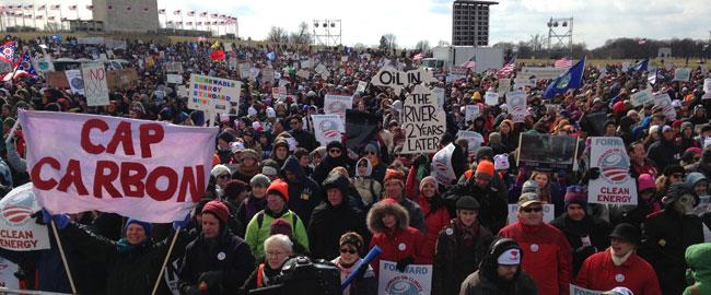"""הפגנה נגד הנחת צינור קיסטון, וושינגטון בירת ארה""""ב, 2013 גז נפט דלק שינוי אקלים anti-keystone"""