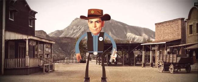 קמפיין הבחירות של דני דנון גזענות אלימות ימין danon-cowboy