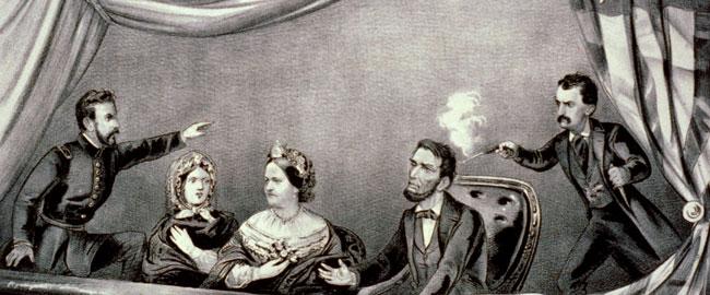 """איור הרצח של לינקולן בתאטרון פורד, 1865 ארה""""ב היסטוריה lincoln"""