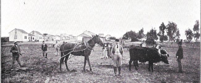 באר טוביה, היסטוריה ישראל Beer_Tuvia_(before_1899)