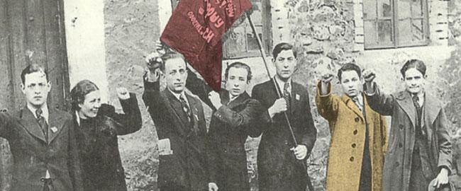 חברי איגוד הספרים בצ'נסטוחובה, פולין, שנות השלושים של המאה העשרים. הבונד בונדאים סוציאליסטים היסטוריה  bundists-in-poland