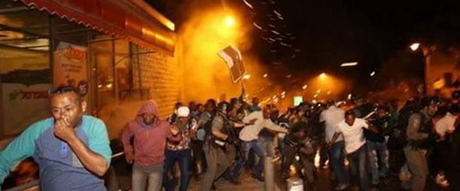 אלימות משטרתית בהפגנה של הקהילה הישראלית אתיופית בירושלים, 30/4/15 IL-ET