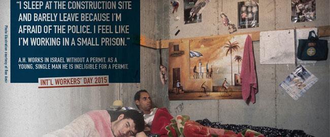 מתוך סדרת צילומים המתארת את חייהם של פלסטינים העובדים בישראל, 2012 (מקור: רון אמיר) palworkers