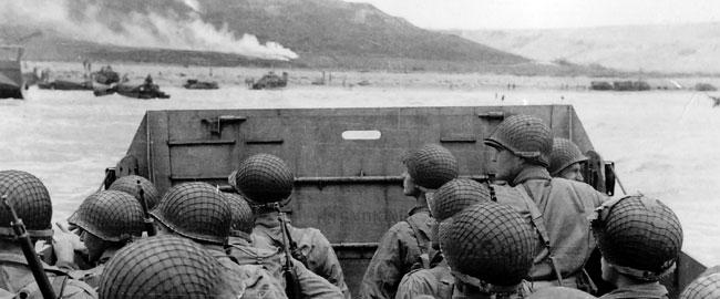 חיילי בעלות הברית בחוף אומהה הפלישה לנורמנדי, 6/6/1944 מלחמת העולם השנייה אמריקה צרפת היסטוריה צבא  Approaching_Omaha