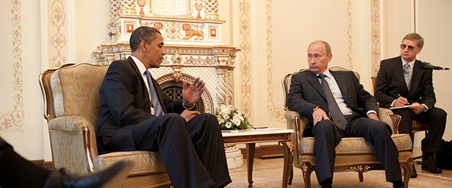 """פוטין, ראש ממשלת רוסיה ואובמה, נשיא ארה""""ב, 2009 (מקור) obama-putin"""