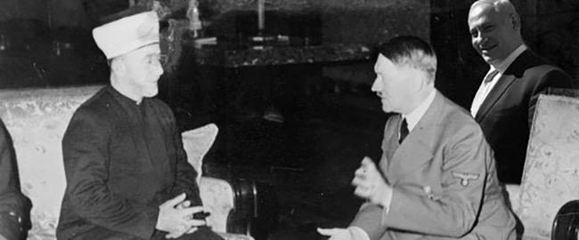 היטלר והמופתי ואחד שיודע (מקור: שירה גלזרמן, פייסבוק) hitler-mufti-bibi