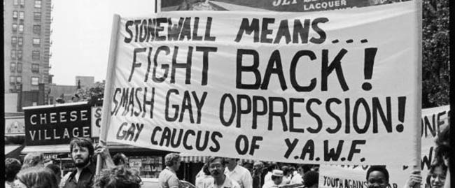 stonewall means fight back smash gay oppression להטב גייז זכויות מאבק מחאה