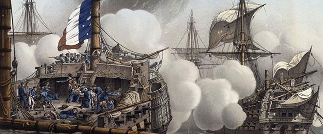 דגל כוזב בקרב הנילוס, 1798 (צייר: לואי לה ברטון) falseflag-Tonnant_LeBreton_PX8975