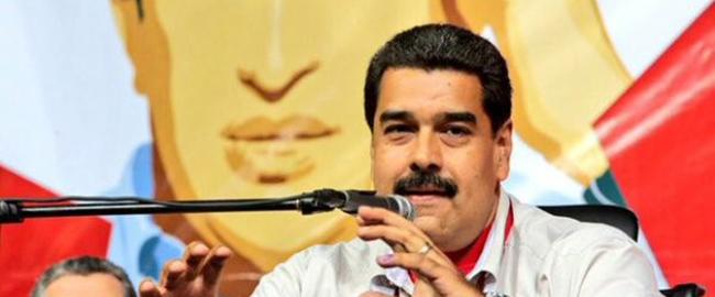 נשיא ונצואלה, ניקולס מדורו, בוועידת המפלגה הסוציאליסטית המאוחדת שנפתחה בשבוע שעבר בעקבות המפלה בבחירות (צילום: טלסור) madoro2