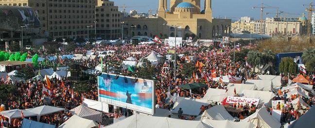 הפגנת תמיכה בחזבאללה ונגד ממשלת לבנון, ביירות 2006 hezbalah