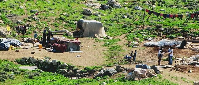 ב-15.2.16 הרסו עובדי המנהל האזרחי 32 מבנים בקהילת ח'ירבת עין א-רשאש yarden פלסטינים כיבוש גירוש