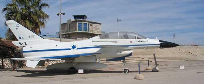 אבטיפוס של מטוס לביא במוזאון חיל האויר (מקור) צהל צבא מטוס תעופה ישראל דגל מגן דוד  Lavi-B-2-hatzerim-2