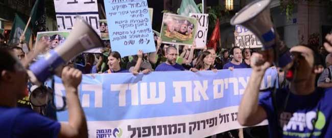 עוצרים את שוד הגז, הפגנה של מגמה ירוקה, 2015 (מקור) shodhagaz