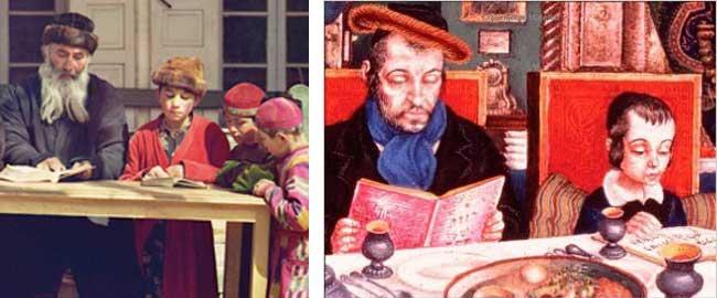 מתוך עטיפת הספר באנגית (ימין) ובעברית (שמאל) של 'המיעוט הנבחר כיצד עיצב הלימוד את ההיסטוריה הכלכלית של היהודים 1492-70' יהדות היסטוריהthechosen2