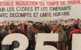 הפגנה בצרפת למען 35 שעות עבודה שבועיות (צילום: מריאן) שכר עובדים זכויות france-demo