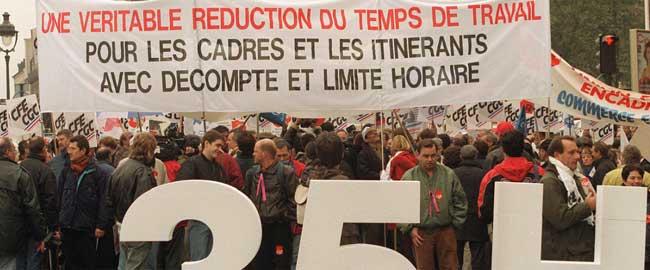 הפגנה בצרפת למען 35 שעות עבודה שבועיות (צילום: מריאן) france-demo