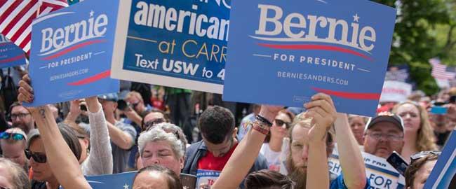 """שלטי """"ברני סנדרס לנשיאות ארה""""ב"""" (מקור) אמריקה שמאל bernie"""