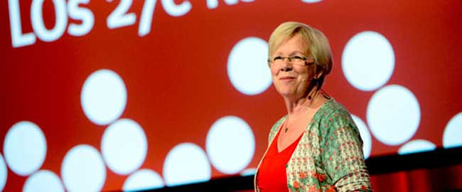 ואניה לונדבי-וודין, ראש האיגוד המקצועי הראשי של שבדיה בשנים 2000-2012 (מקור) wanjalundbywedin2112