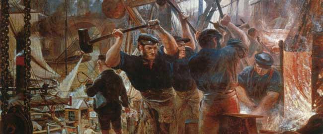 עובדי פחם וברזל (צייר וויליאם בל סקוט, 1860) william_bell_scott_-_iron_a