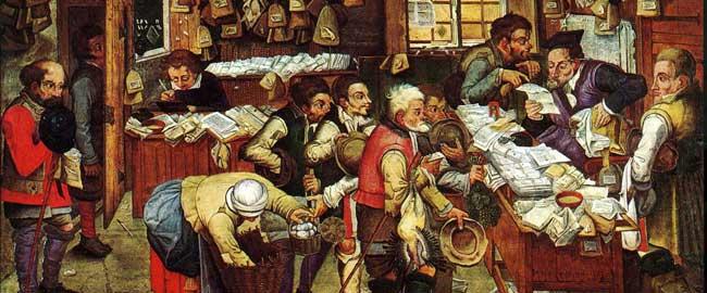 משרד גביית מיסים (צייר פיטר ברויגל, 1640) taxes