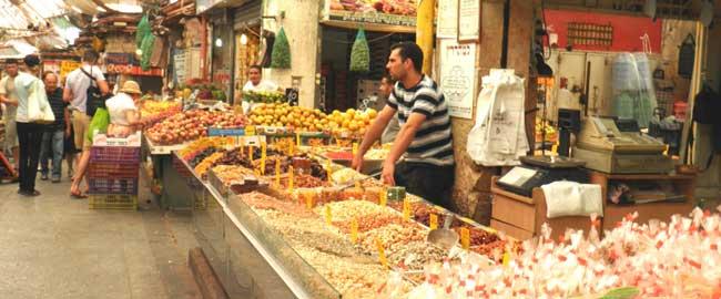 שוק מחנה יהודה ירושלים ימין שמאל (מקור) mahane_yehuda_market_ap_031