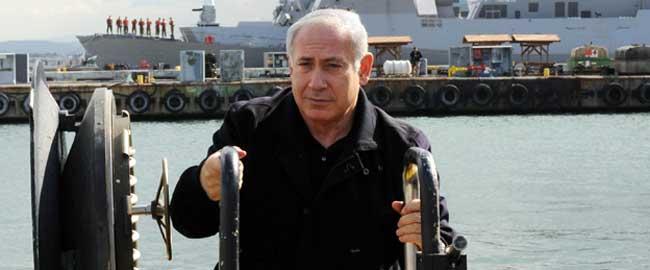 בנימין נתניהו בביקור צוללות (מקור) ים צוללת צי צבא בטחון ביבי נמל subbibi