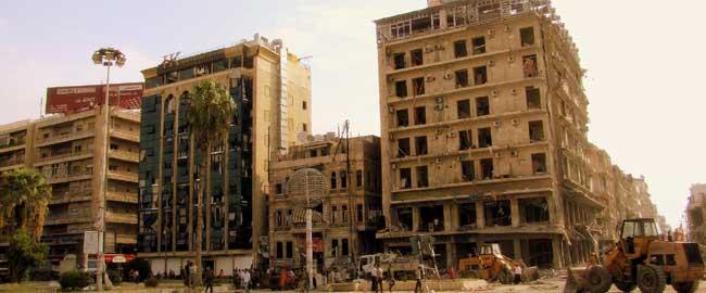 כיכר בעיר חאלב לאחר הפצצה על ידי המורדים, 2012 (מקור) סוריה מלחמת אזרחים halab12